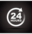 white 24 hours vector image vector image