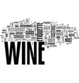 wine etiquette with ease text word cloud concept vector image vector image