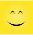 yellow smile background vector image vector image