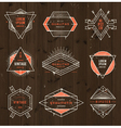 Grunge hipster signs vector image