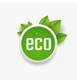 Eco label vector image