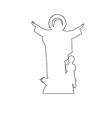 Virgin Mary Statue Path on the white background vector image