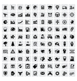 100 web icons vector image vector image