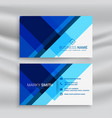 abstract blue geometric business card layout vector image vector image