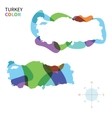 Abstract color map of Turkey vector image vector image