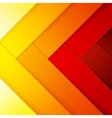 Abstract red orange and yellow crossing rectangle vector image vector image