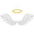 Angel wings cartoon vector image