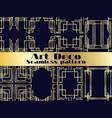 art deco seamless pattern set vintage background vector image vector image