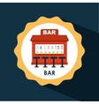 bar icon design vector image vector image