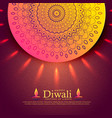 beautiful diwali celebration greeting with vector image vector image