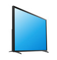 black led tv television screen blank on white vector image vector image