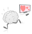 brain running away from television vector image vector image