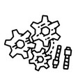 business manage hand drawn icon design outline vector image