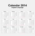 Calendar 2014 Typ 13 vector image
