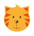 cat head isolated icon design vector image vector image