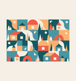 city small town geometric abstract landscape vector image vector image