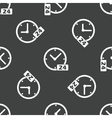 Clock 24 pattern vector image vector image