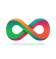 Colorful infinity symbol vector image vector image