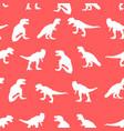 cute dinosaur seamless pattern print design vector image vector image