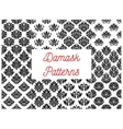 Damask seamless decorative ornament patterns vector image vector image