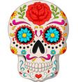 day dead skulls vector image