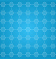 decorative snowflake pattern background vector image vector image