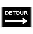 detour sign vector image vector image