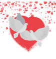 doves in love pigeons birds hearts valentines vector image vector image