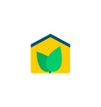 eco house icon flat element vector image
