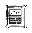 ecommerce interface icon hand drawn icon set vector image vector image