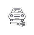 electric car line icon concept electric car vector image vector image