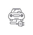 electric car line icon concept electric car vector image