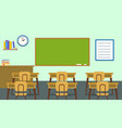 empty classroom background flat style vector image