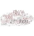 fancy word cloud concept vector image vector image
