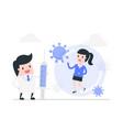 fight against coronavirus concept vector image