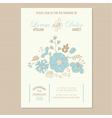 floral wedding invitation card vector image vector image