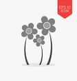 Flowers icon Flat design gray color symbol Modern vector image