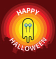 ghost flat design thin line halloween vector image vector image