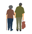 Grandfather and grandmother in love active senior