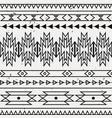 grunge monochrome seamless decorative ethnic vector image vector image