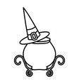 happy halloween celebration potion cauldron witch vector image vector image
