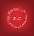 happy new year label vector image vector image
