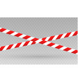 isolated lines of insulation realistic warning vector image vector image