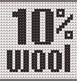 knitted text 10 percent wool in black and white vector image vector image