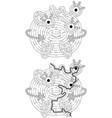 little monster maze vector image vector image