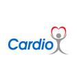 logo for a cardio clinic vector image vector image