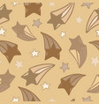 lovely seamless pattern with hand-drawn stars vector image vector image