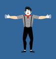 mime happy pantomime merry mimic cheerful vector image