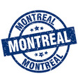 montreal blue round grunge stamp vector image vector image