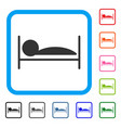 patient bed framed icon vector image vector image
